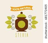 coffee stevia natural sweetener   Shutterstock .eps vector #681772405