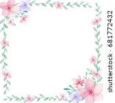 flower wedding invitation card  ... | Shutterstock . vector #681772432