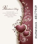 valentine's background | Shutterstock .eps vector #68177419
