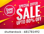 sale banners template | Shutterstock .eps vector #681781492