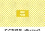yellow background seamless... | Shutterstock .eps vector #681786106