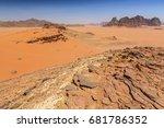 desert landscape in southern... | Shutterstock . vector #681786352
