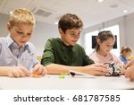 education  children  technology ... | Shutterstock . vector #681787585