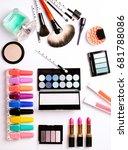 make up brush  perfume  eye... | Shutterstock . vector #681788086