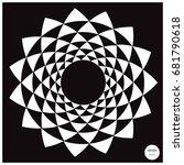 vector design circle elements... | Shutterstock .eps vector #681790618