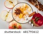 healthy vegan food. dietary... | Shutterstock . vector #681793612