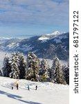 winter in alps  kaltenbach ski... | Shutterstock . vector #681797122