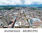 view of manizales in the... | Shutterstock . vector #681801592