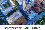 straight down drone view above... | Shutterstock . vector #681813895