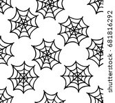 spider web seamless doodle... | Shutterstock .eps vector #681816292