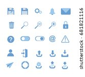 user interface icons  save ...
