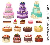 cakes icons collection. vector...