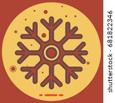 icon of cold sign depicting... | Shutterstock .eps vector #681822346