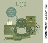 404. fanny cats | Shutterstock . vector #681824752