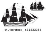 ship of the line and... | Shutterstock .eps vector #681833356