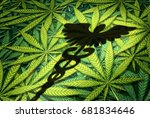 marijuana medical concept as... | Shutterstock . vector #681834646