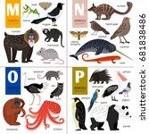 alphabet vector design with... | Shutterstock .eps vector #681838486