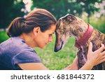 friendship between woman and... | Shutterstock . vector #681844372