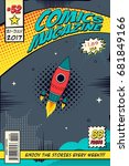 Comic book cover. Concept elements of the space | Shutterstock vector #681849166