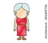 woman adult character standing... | Shutterstock .eps vector #681849706