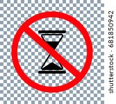 no time sign on transparent... | Shutterstock .eps vector #681850942