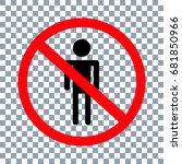 no man sign on transparent... | Shutterstock .eps vector #681850966