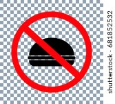 no fastfood sign on transparent ... | Shutterstock .eps vector #681852532