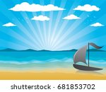 illustration background with... | Shutterstock .eps vector #681853702