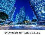 night view of shinjuku... | Shutterstock . vector #681863182