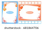 picture frame with sweets and... | Shutterstock .eps vector #681864706