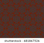 geometric shape abstract vector ... | Shutterstock .eps vector #681867526