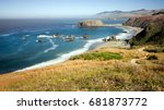 panoramic view of the pacific... | Shutterstock . vector #681873772