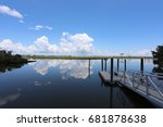 boat dock walk way going into... | Shutterstock . vector #681878638