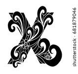 zentangle stylized alphabet.... | Shutterstock .eps vector #681879046