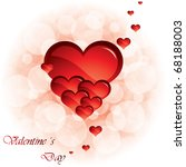 abstract valentine's day heart... | Shutterstock .eps vector #68188003