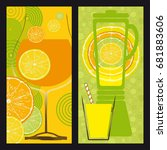 two illustrations on the theme... | Shutterstock .eps vector #681883606