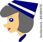 air hostess girl vector... | Shutterstock .eps vector #681884476