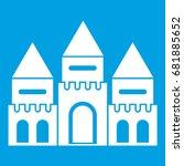 children house castle icon... | Shutterstock .eps vector #681885652