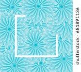 light blue flower background ... | Shutterstock .eps vector #681891136