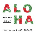 aloha poster illustration | Shutterstock .eps vector #681906622