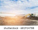 Excavation Work By Backhoe In...