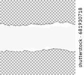 torn paper edges  seamless... | Shutterstock .eps vector #681930718
