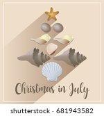 christmas in july sale... | Shutterstock .eps vector #681943582