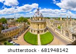 Streets of Oxford - landmark, England - overview from a church