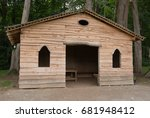 Wooden Picnic Hut In A Woodlan...
