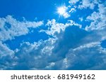 image of ultraviolet rays | Shutterstock . vector #681949162