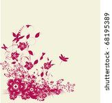 floral card | Shutterstock .eps vector #68195389