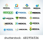 medical and health logo design... | Shutterstock .eps vector #681956536