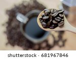 roasted coffee beans | Shutterstock . vector #681967846