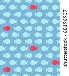 seamless fish pattern  fully... | Shutterstock .eps vector #68196937